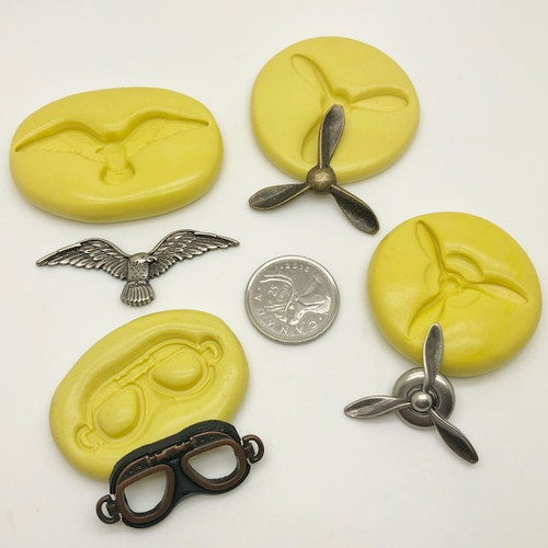 Air plane propellers and Mask silicone Mold Set
