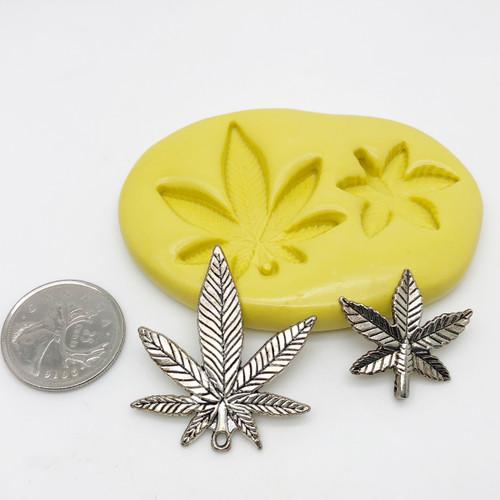 Weed marijuana Leaf silicone  Mold Set
