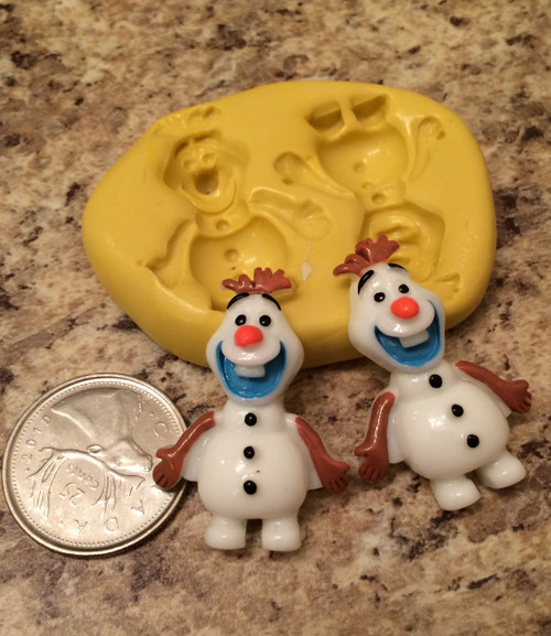 Olaf Frozen Snowman Mold Set Silicone