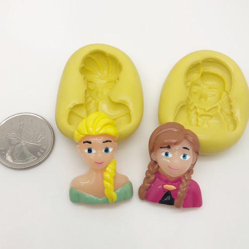 Anna and Elsa Frozen Silicone Mold Set