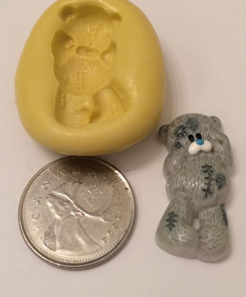Small Teddy Bear Full Body Silicone Mold