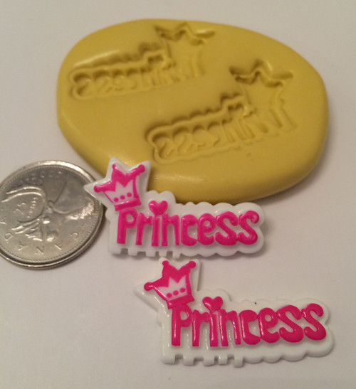 Princess Word Silicone Mold