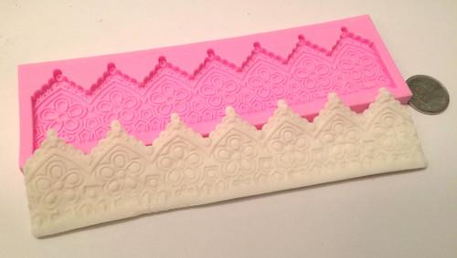 Lace Cake Border Silicone Mold
