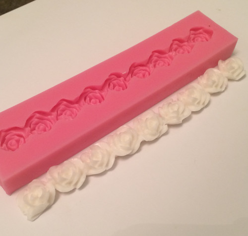 Rose Flower Border Mold PM201