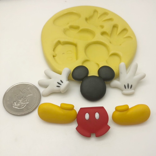 Mickey Mouse Hands Boots Body Silicone Mold Set