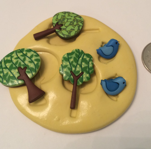 Tree / Bird Silicone Mold Set