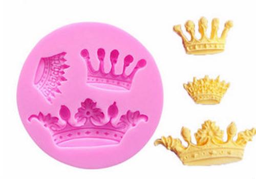3 pcs Crown Silicone Mold Set