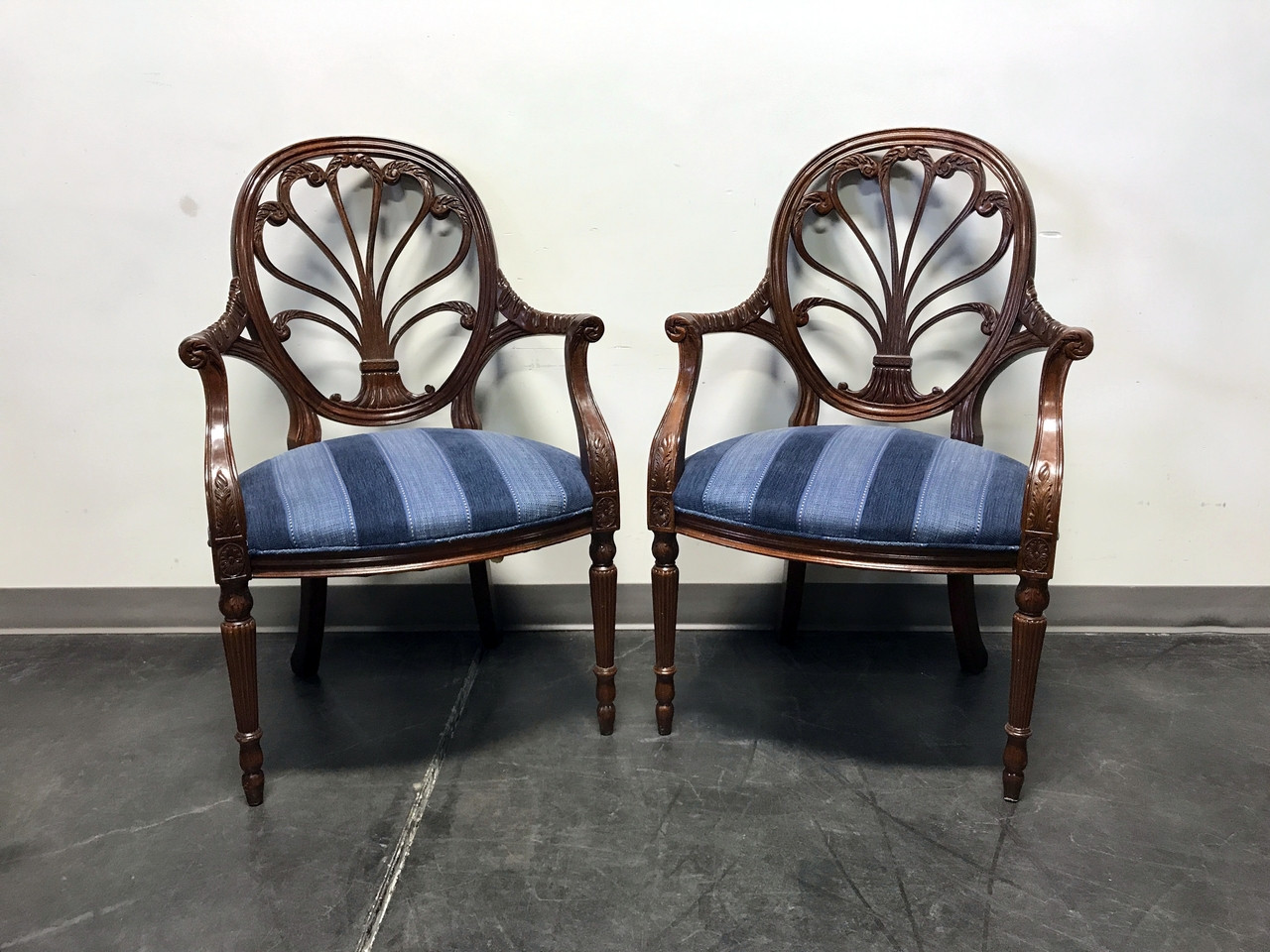 SOLD OUT   HICKORY CHAIR Anthemion Fauteuil Mahogany Arm Chairs   Pair