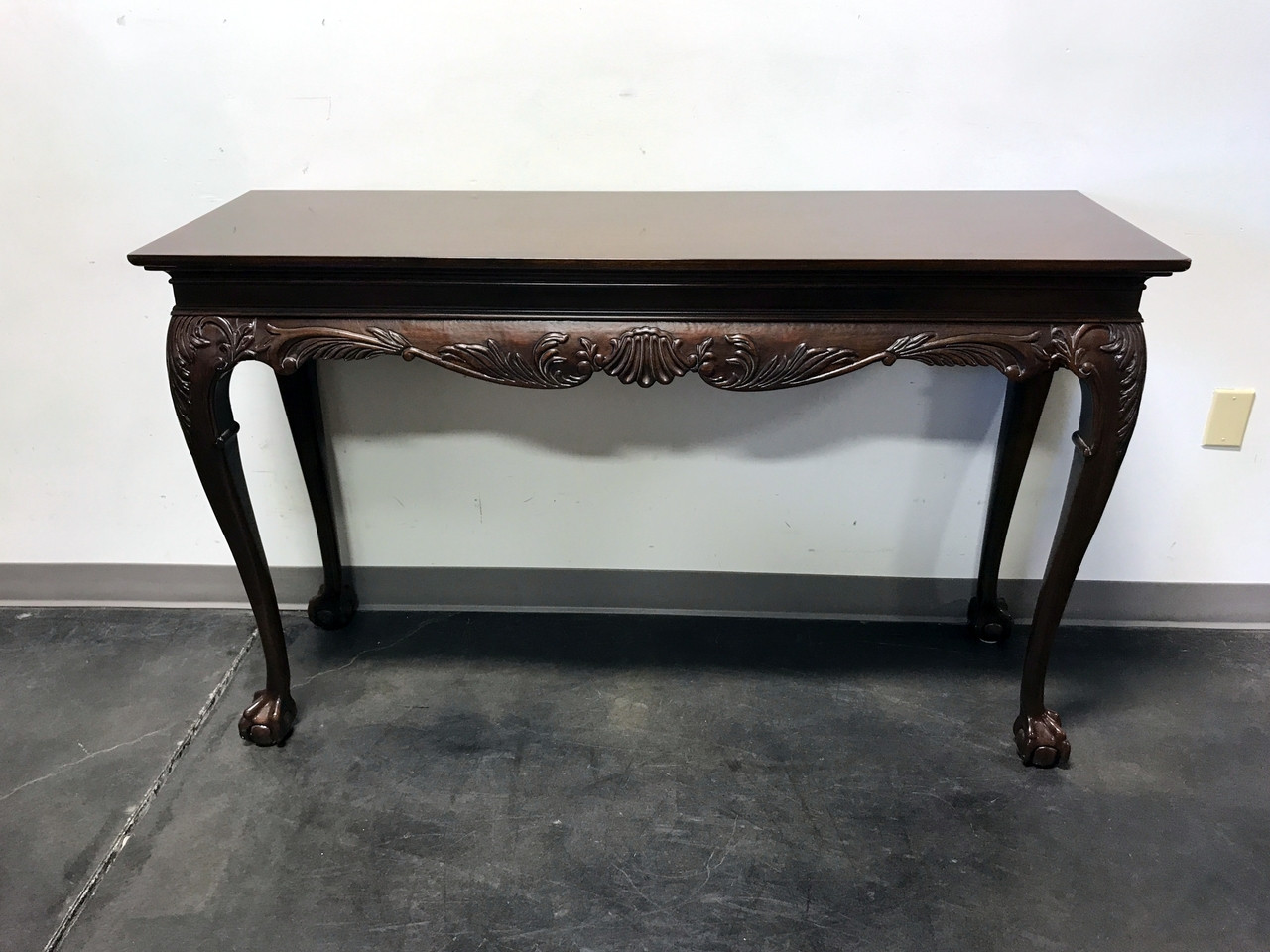 SOLD OUT DREXEL HERITAGE Heirlooms Chippendale Inlaid Mahogany Ball