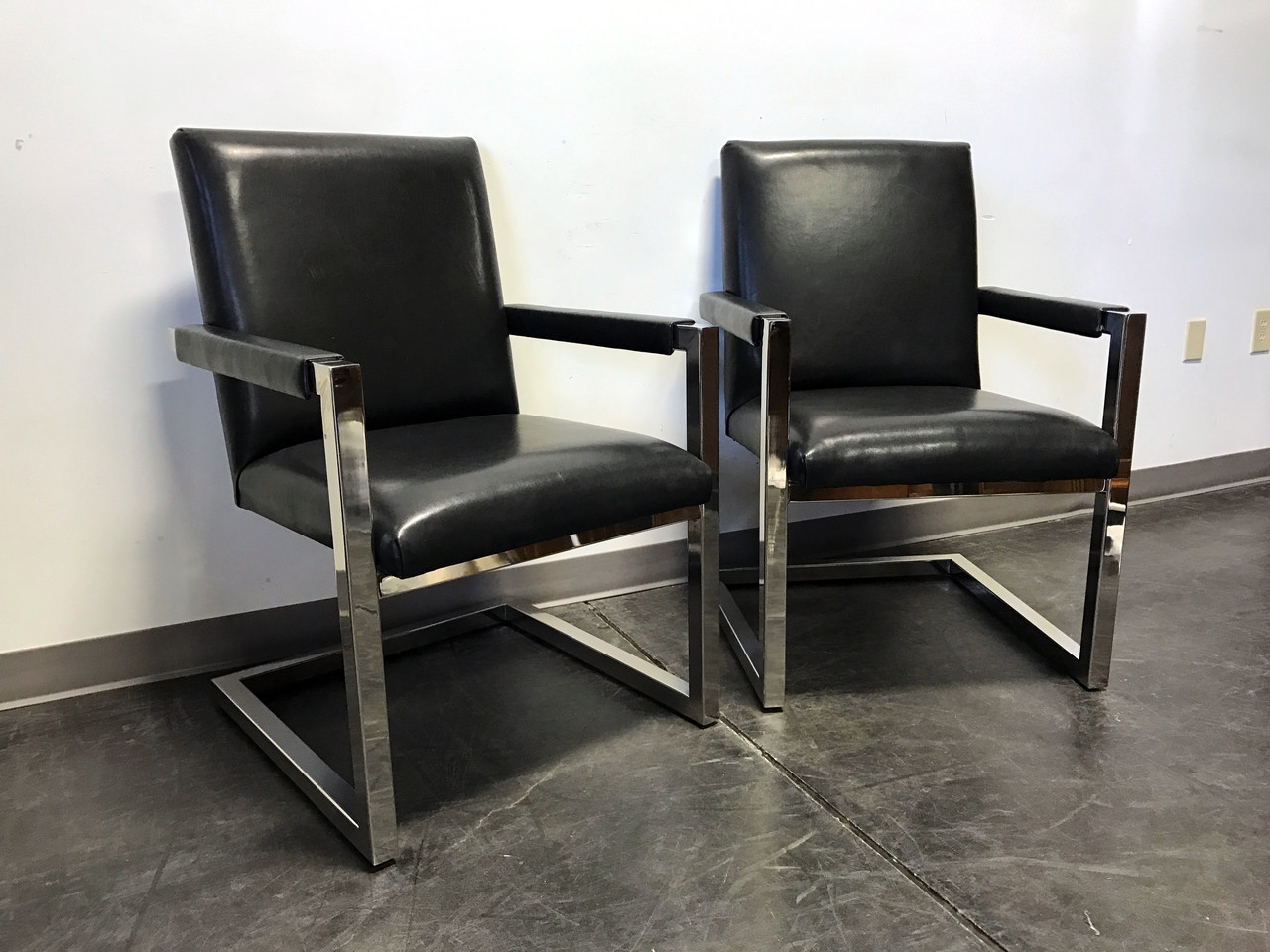 SOLD OUT   POLO Ralph Lauren By HENREDON Chrome U0026 Leather Club Chairs   Pair