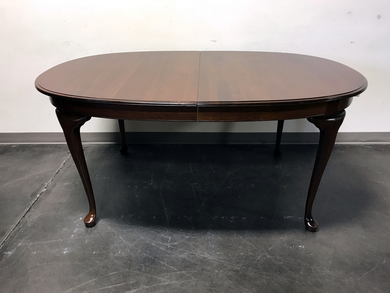 SOLD OUT   ETHAN ALLEN Cherry Queen Anne Dining Table 11 6084