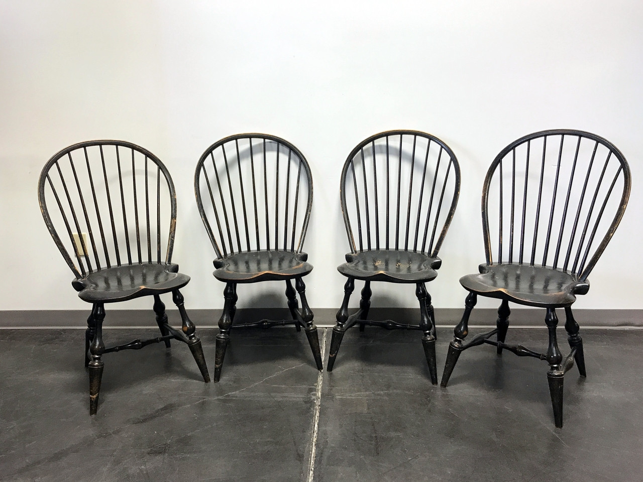 SOLD OUT   DR DIMES Balloon Back Windsor Chairs   Set Of 4