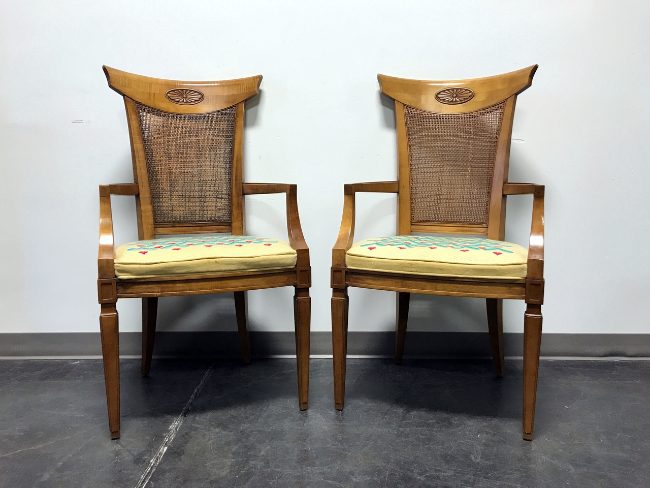 drexel heritage palazzo italian provincial neoclassical cane dining