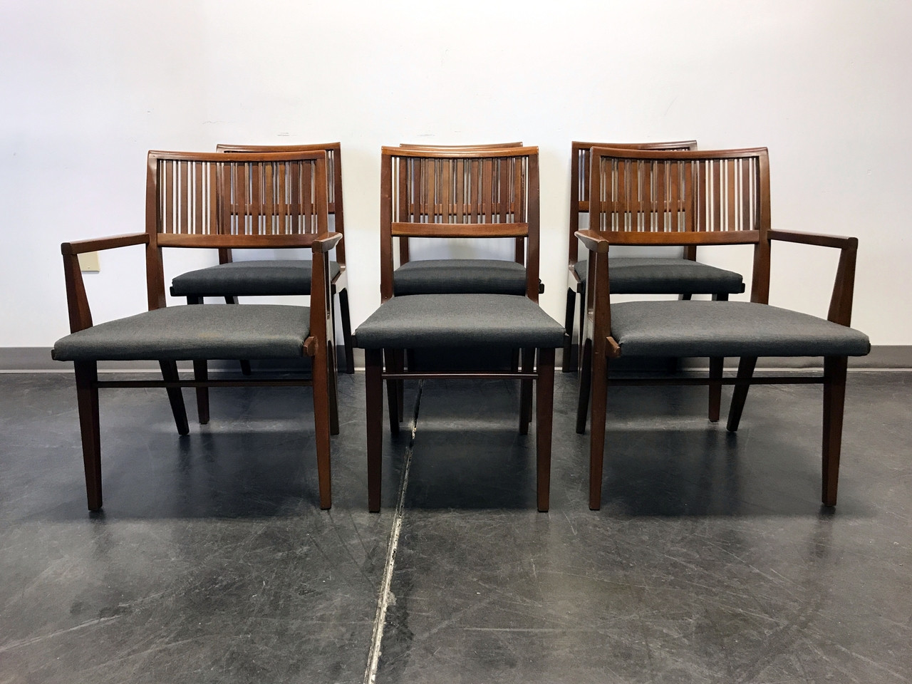 DREXEL COUNTERPOINT Mid Century Modern Mahogany Dining Chairs   Set Of 6