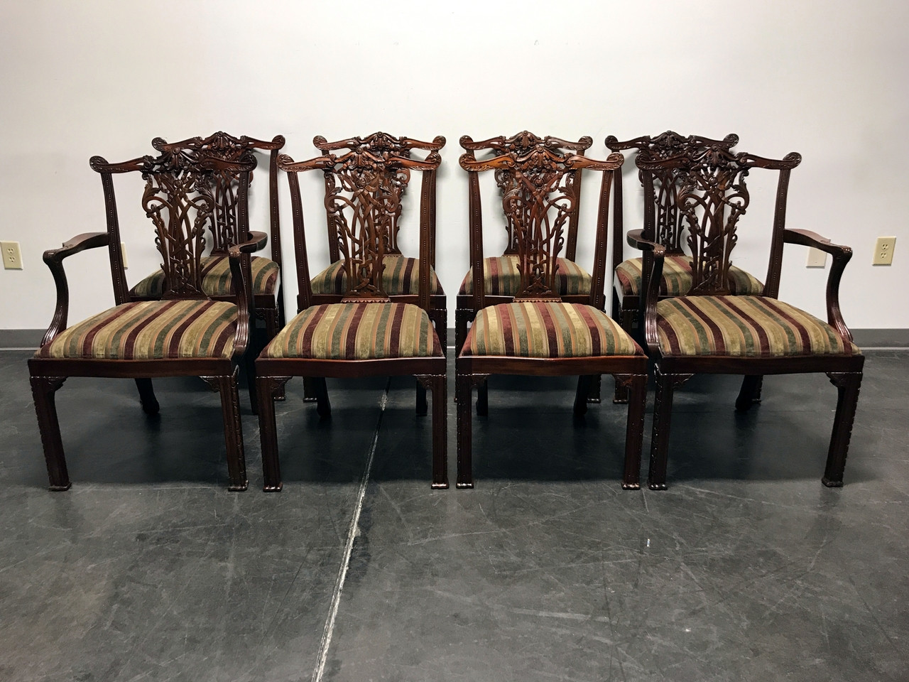 chippendale dining chairs. MAITLAND SMITH Mahogany Chippendale Dining Chairs - Set Of 8
