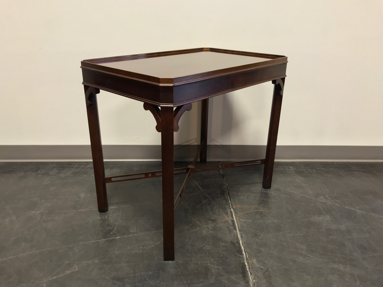 Chippendale Mahogany End Side Accent Table