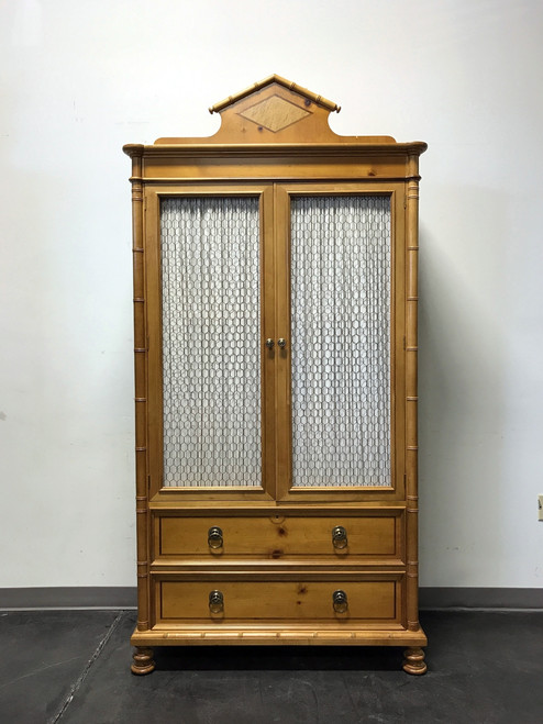 Charmant ... SOLD OUT   BAKER FURNITURE Inlaid Pine Faux Bamboo Armoire W/ Wire Mesh  Doors ...