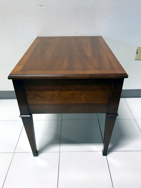 Vintage Mid Century Fruitwood Side End Table by HERITAGE Boyds