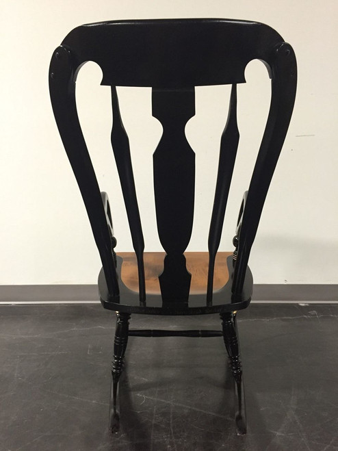 Superieur ... SOLD OUT   ETHAN ALLEN Balloon Back Homestead Black Hitchcock Style  Rocker Rocking Chair ...