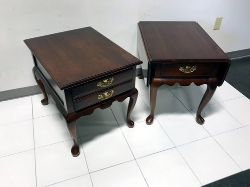 ... SOLD OUT   Solid Cherry Queen Anne Style Side End Tables By JF DELWOOD    Near ...