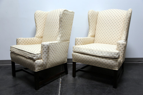 Lovely ... SOLD OUT   Chippendale Style Mahogany Wing Back Chairs By Conover Chair  Co   Pair ...