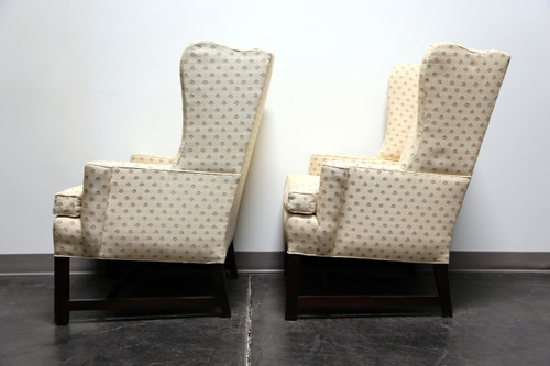 High Quality ... SOLD OUT   Chippendale Style Mahogany Wing Back Chairs By Conover Chair  Co   Pair ...