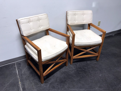 ... LANE VENTURE Bamboo Arm Chairs   Pair 1 ...