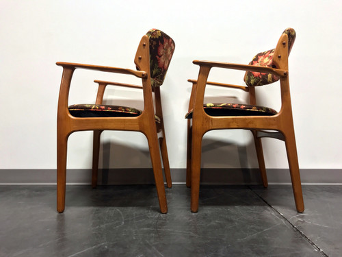 ... Erik Buch For Mobler Model 49 Teak Danish Mid Century Modern Arm Chairs    Pair 4 ...
