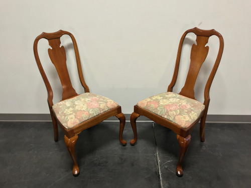 ... HARDEN Solid Cherry Queen Anne Dining Side Chairs Champagne Finish    Pair 4 ...