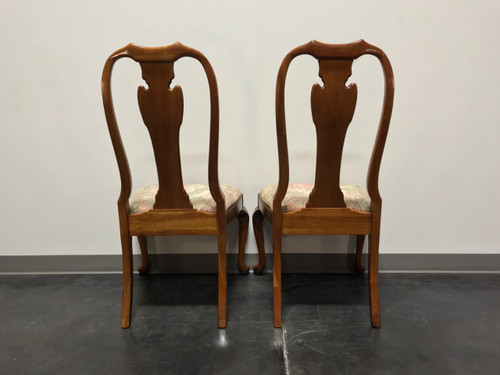 ... HARDEN Solid Cherry Queen Anne Dining Side Chairs Champagne Finish    Pair 2 ...