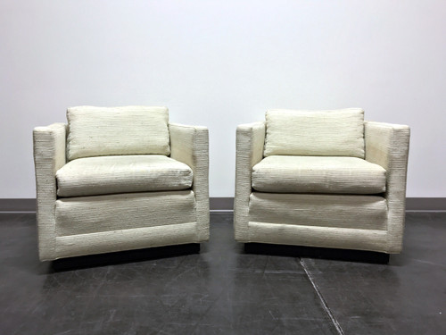 Mid Century Modern MCM Cube Club Chairs In The Style Of Jack Cartwright    Pair ...