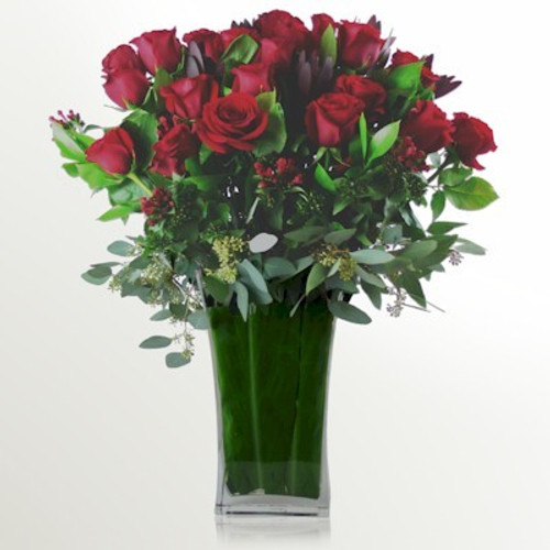 24 Luxury Long Stemmed Roses