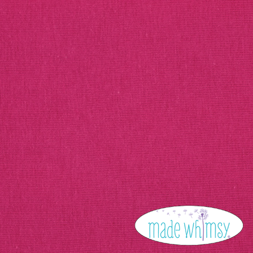 Knit Dark Fuchsia 12oz Solid by Made Whimsy