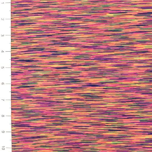 Space Dye Stripes Multi Light Weight Jersey Knit Fabric