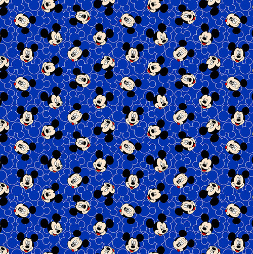 Mickey Mouse Blue Knit by Springs Creative