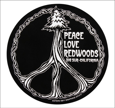 Tree in the form of peace symbol