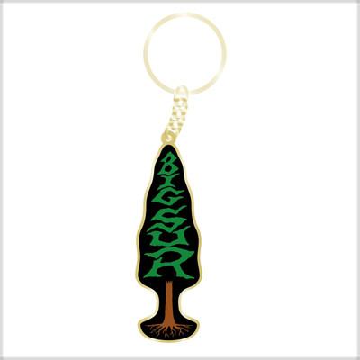 Tree w/ Big Sur Logo  keychain