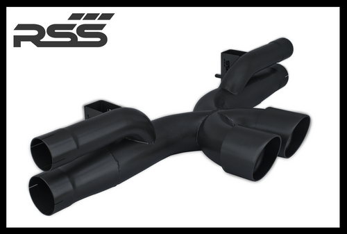 1208/30 RSS X-Pipe Center Exhaust - Black Ceramic Coat (991.1 GT3/RS)