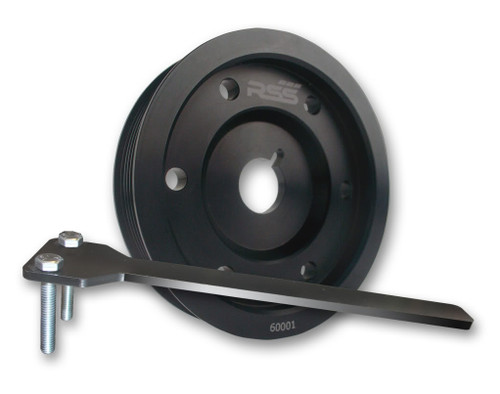 The RSS Lightweight High Strength Underdrive Pulley is made from 6061-T6 aluminum. Offers improved HP & TQ by reducing drag from the power steering pump, A/C, water pump and alternator A must for any street or track enthusiast Installation wrench included. Works on all Porsche models EXCEPT 2.9L 3.8L, DFI and Turbo. We recommend using the appropriate length belt RSS # 6PK which can be purchased on our website.