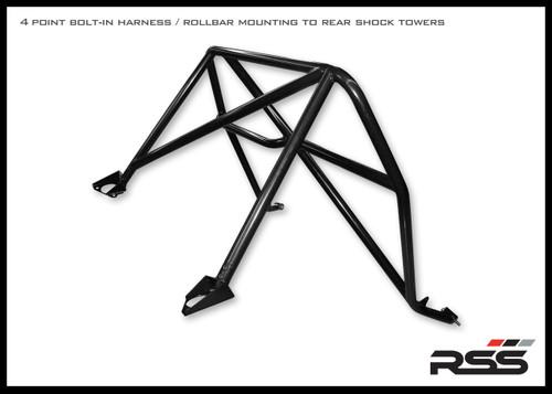930/30 4pt. Hybrid RollBar/Harness Bar (996/997 Coupes) Finish: Black