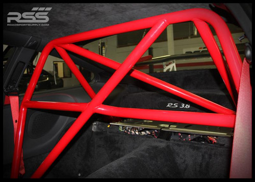 930/34 4pt. Hybrid RollBar/Harness Bar (996/997 Coupes) Finish: Red