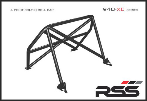 940/30 XC Series 4pt. Roll Bar 991 GT3 / RS. Finish: Black