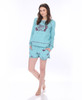 I Don't Do Mornings Sleep Pullover (shown with shorts)