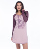 Collage Vintage Wash Jersey Long Sleeve Raglan Nightshirt