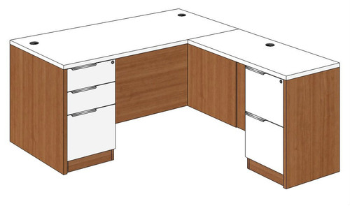 Straight Front L-Shape Desk Right Return
