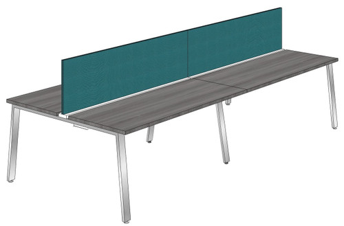 "Synapse 4-packs with 18"" Tackable Privacy Panels, 60"" Deep Bench"
