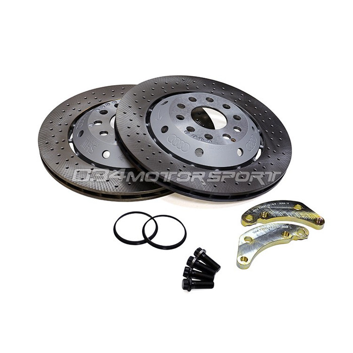 034 Rear Brake Rotor Upgrade Kit, 8J Audi TTRS to C5 Audi RS6 Rotors, 335mm