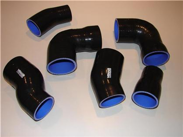 Venair 02-04 Audi RS6 C5 6 Piece Turbo Black Silicone Hose Set