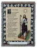 23rd Psalm Cotton Tapestry Throw Blanket