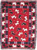 Red Scotties Woven Cotton Throw 21078